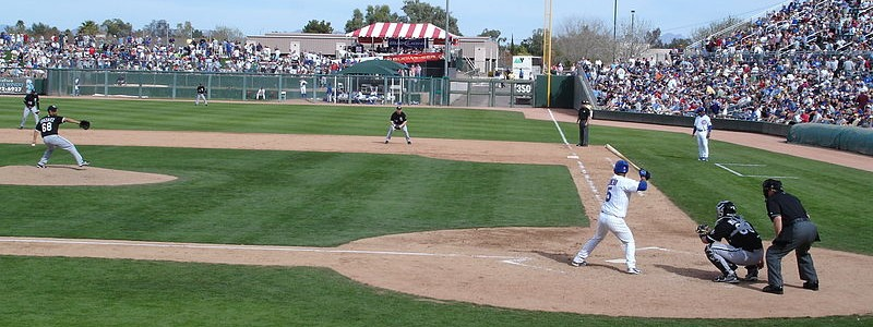 spring training game in sun city